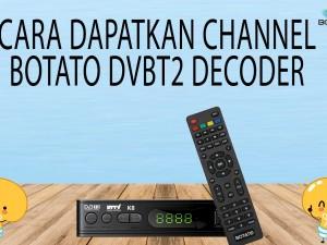 CARA DAPATKAN SIARAN  DECODER DVBT2