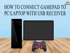 How to connect gamepad to PC/laptop with USB receiver or Cable