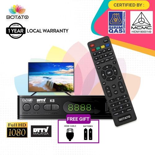 SIRIM&MCMC Certified[1 Year Warranty]Mytv DVB T2 HD DTTV My Freeview Digital TV Set top Box Decoder